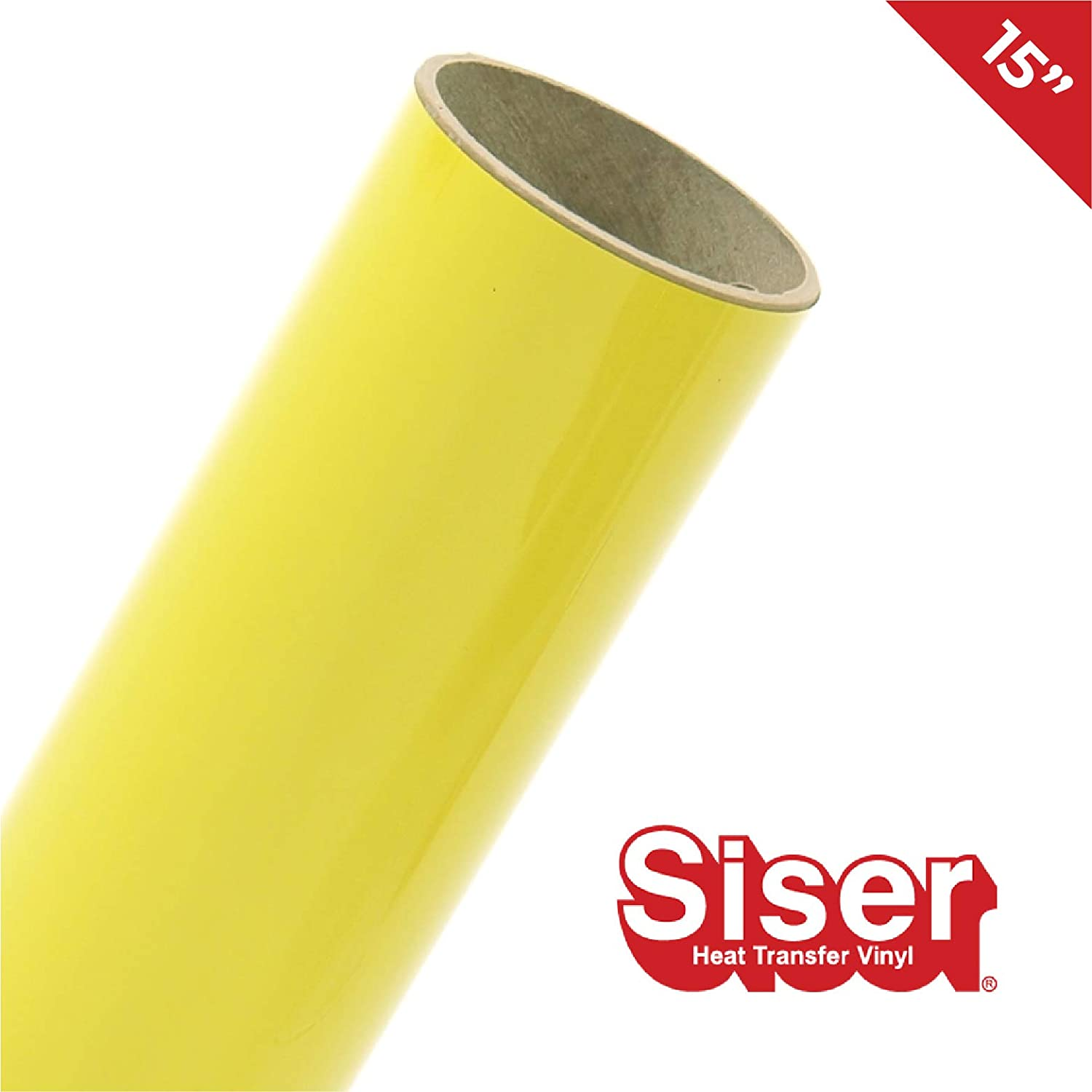 White, 3ft x 10 Inch Siser Easyweed Gloss Finish Heat-Transfer Vinyl Including Hard Yellow Detailer Squeegee