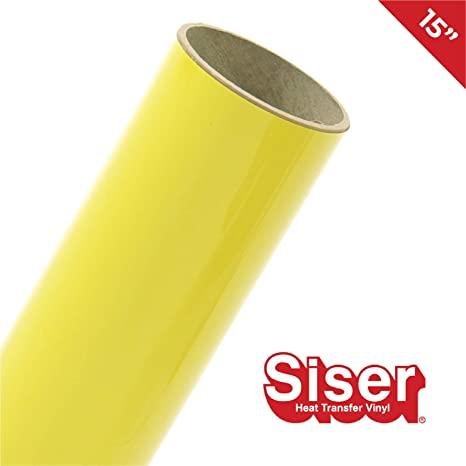 Amazon Com Siser Easyweed Htv 15 X 10ft Roll Iron On Heat Transfer Vinyl Lemon