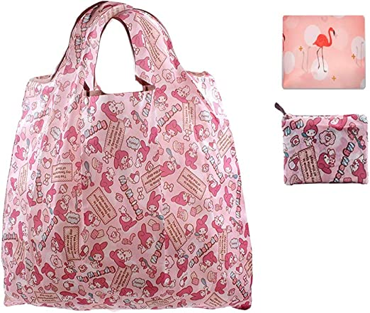Little Twin Stars Handbag Foldable Shopping Tote Eco Bag ~ Pink