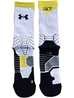 ae77d94d6 Under Armour Mens Basketball Crew Socks Stephen Curry SC30 White L