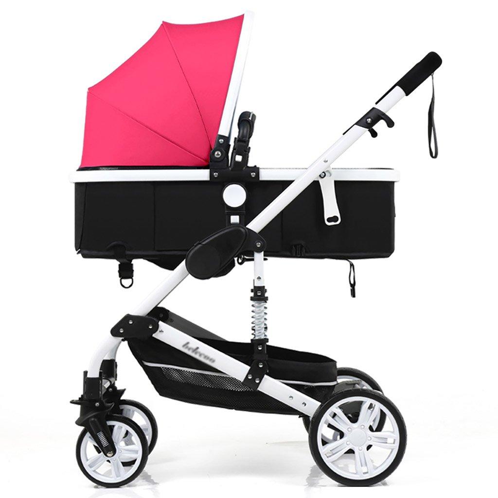 ベビーキャリッジ、折りたたみ自転車ベビーキャリー、ポータブルベビーベビーカー、1ヶ月から4歳までのベビーカーのトロリー、子供の歩行車 (色 : A) B07CZF1RPXA
