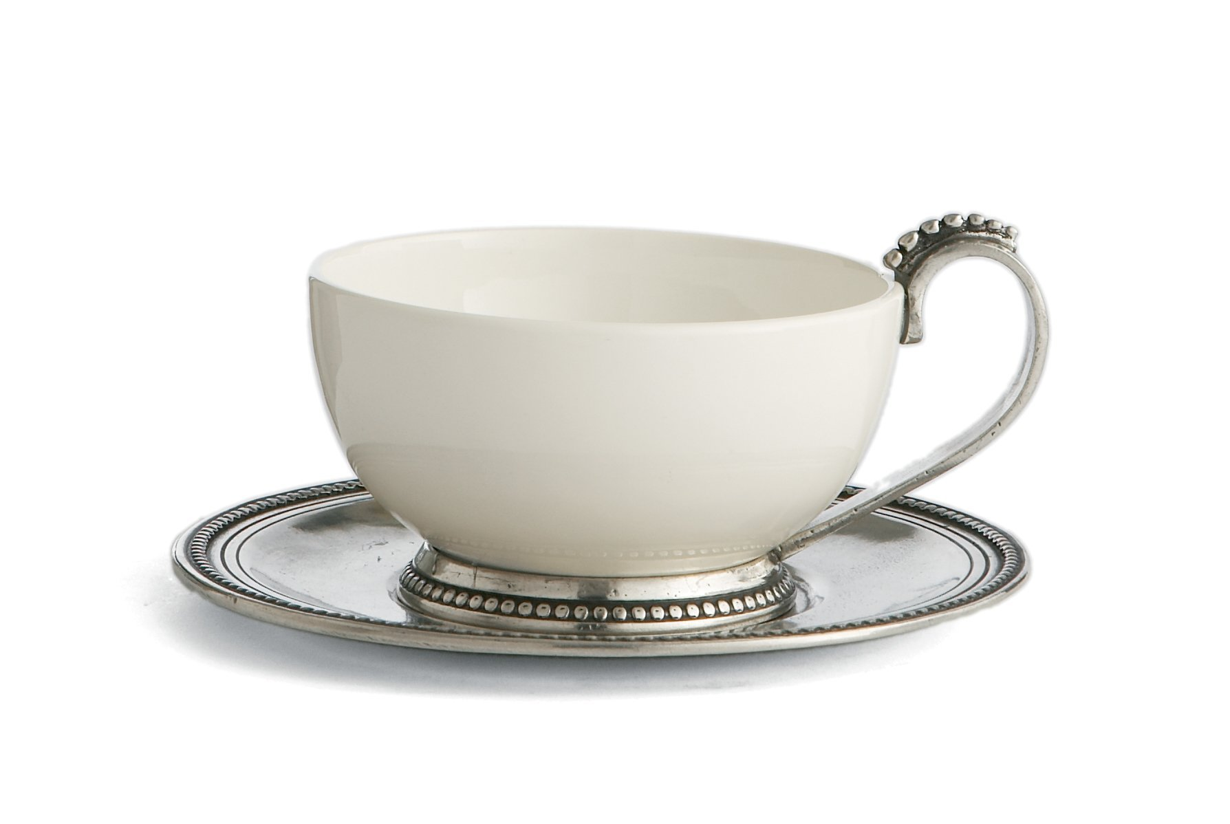 Arte Italica Perlina Cup & Saucer, White by Arte Italica (Image #1)