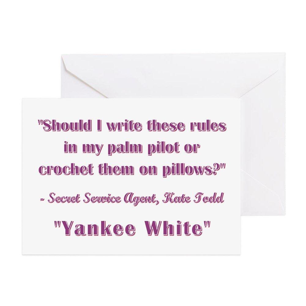 Amazon Cafepress Yankee White Greeting Card Note Card