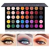 Paleta de sombras de ojos de colores Contorno de maquillaje Paleta de sombras de ojos metálicas Maquillaje Brillo mate…