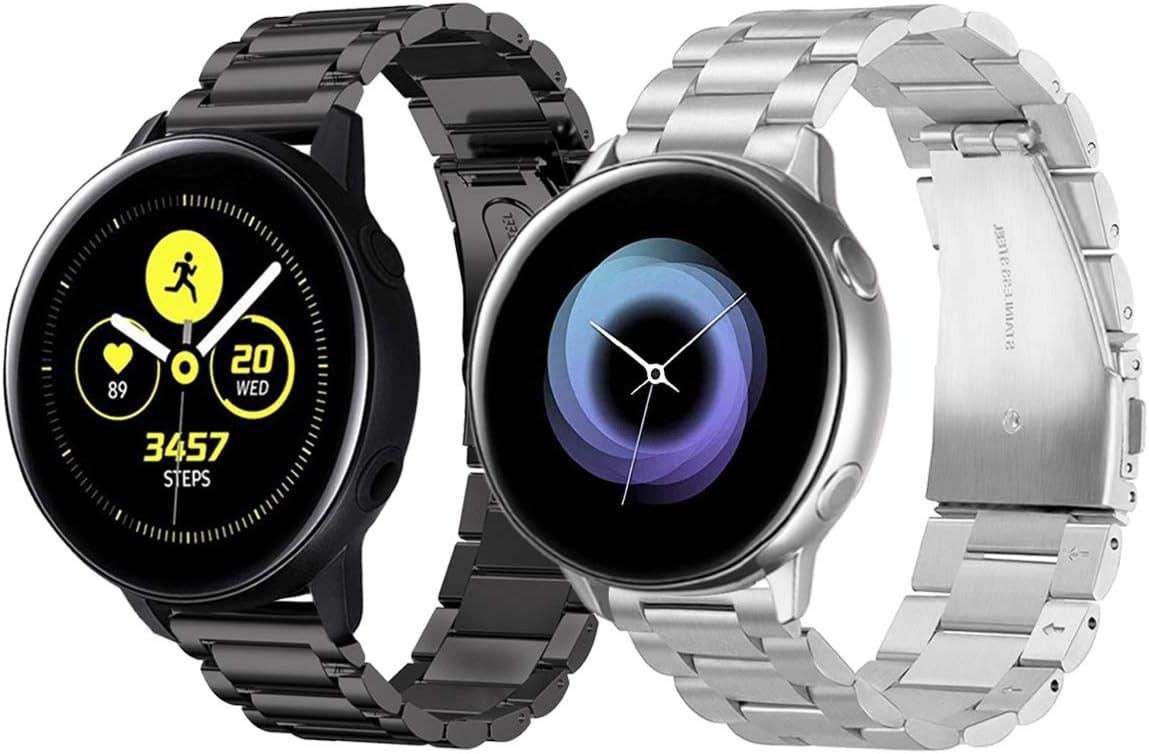 2 mallas de acero para Galaxy Watch Active (40mm) SM-R500