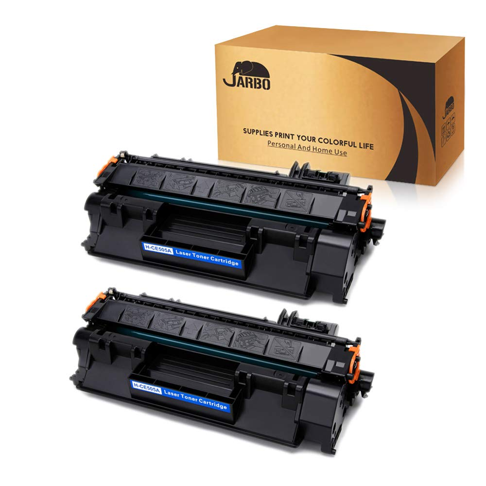 JARBO Compatible Toner Cartridges Replacement for HP 05A CE505A Toner Cartridges High Yield, 2 Black, Use with HP Laserjet P2035 P2035N P2055D P2055DN P2055X P2030 P2050 Printer