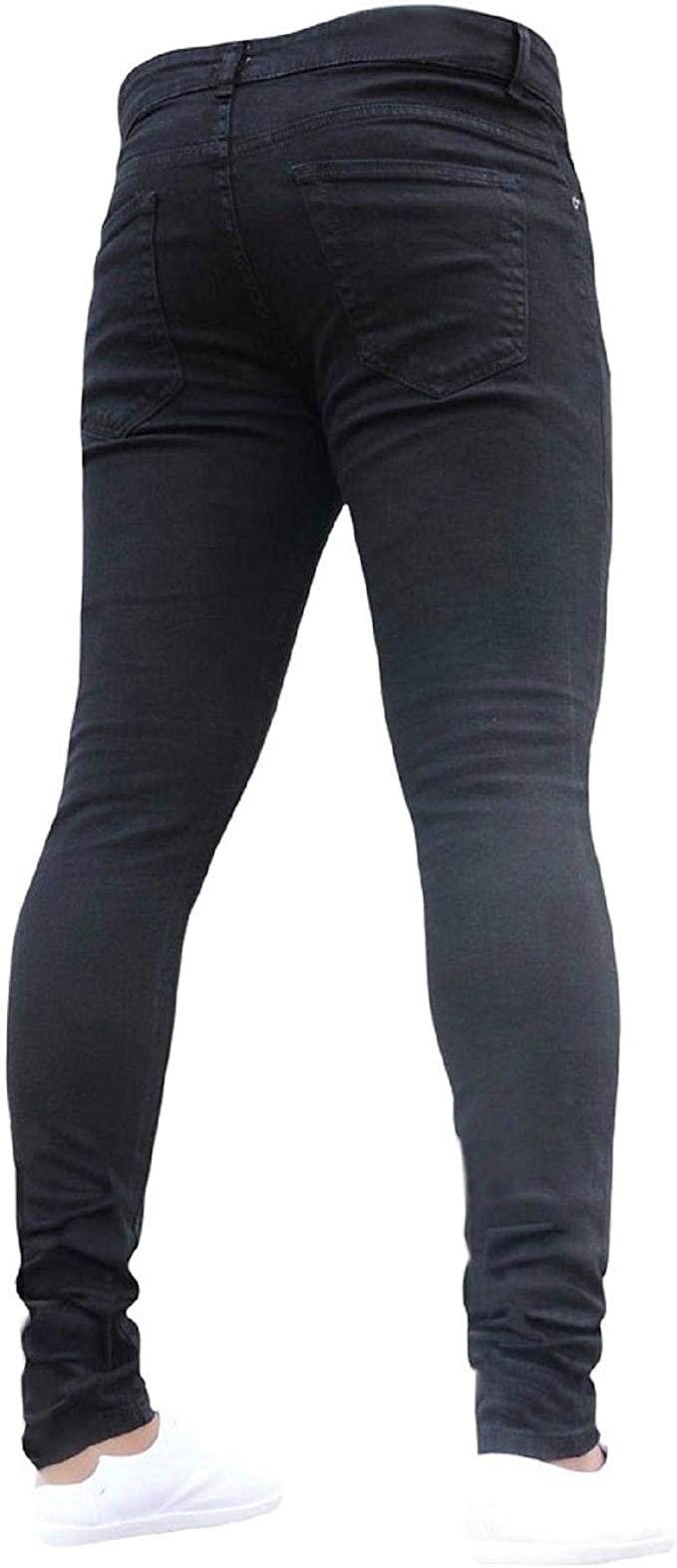 Womens Slim Fit Comfy Stretchy Crumpled Cotton Bootcut Pants Skinny Jeans Mid Waist Pencil Pants