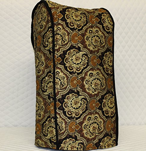 Ninja blender cover - Quilted double faced cotton, Black Paisley