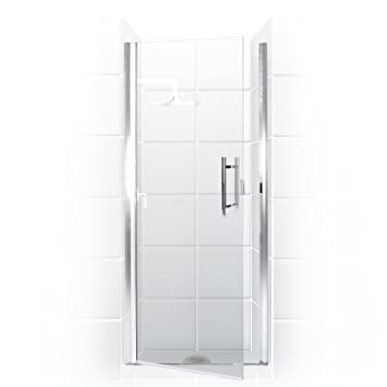 paragon series semi frameless continuous hinge shower door 24 in w x 69