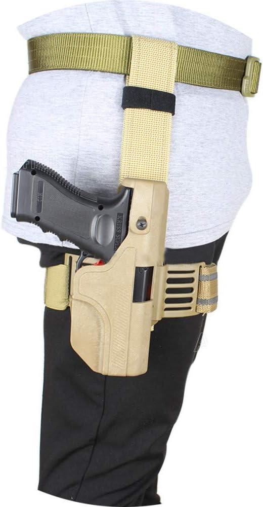 Gexgune Milit/är CQB CQC Glock Seltene Pistole Jagd Airsoft G/ürtel Holster Zubeh/ör Taktische Pistole Holster Glock 17//22//23 w//Lederband