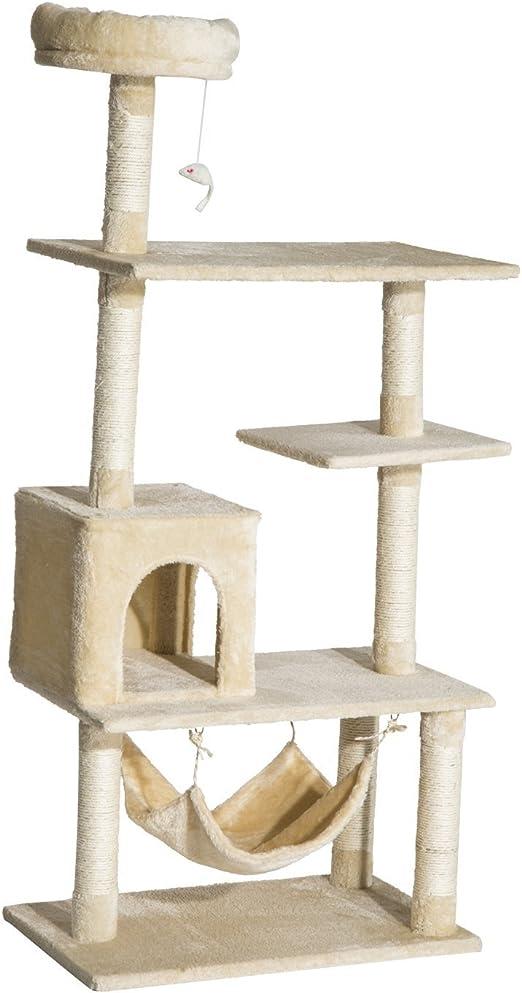Pawhut Arbol Rascador Gato 152x70x40cm Arboles Rascadores Gatos Dormir y Jugar Nuevo: Amazon.es: Productos para mascotas