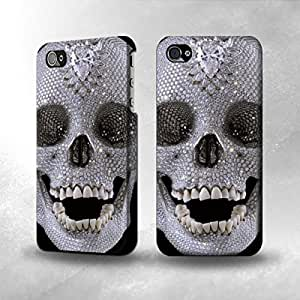 Apple iPhone 5 / 5S Case - The Best 3D Full Wrap iPhone Case - Diamond Skull