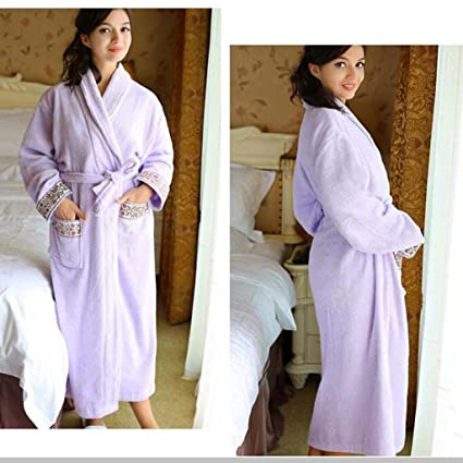 079d0c4c8e13 SYY Pajama Suit, Cotton with Pockets Bathrobe,Cotton Bathrobe Couples  Autumn and Winter Men