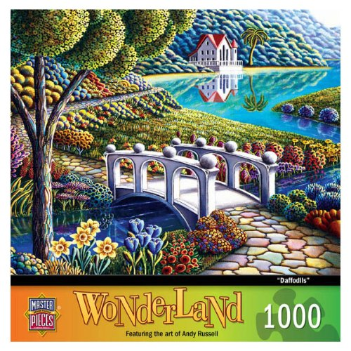 MasterPieces Daffodils Jigsaw Puzzle, Art by Andy Russell, 1000-Piece