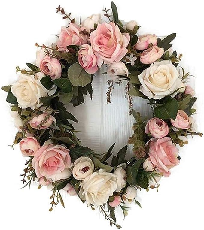 VINTAGE TÜRKRANZ NELKEN Blumenkranz Blütenkranz Wandkranz Wandschmuck