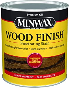 Minwax 70012444 Wood Finish PenetratingStain, quart, Dark Walnut