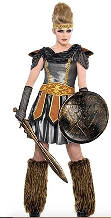 Amazon.com: Warrior Princess Teen Costume Viking Amazon (Large): Clothing
