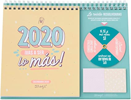 Mr. Wonderful WOA09851ES, Calendario de Sobremesa 2020, Talla ...