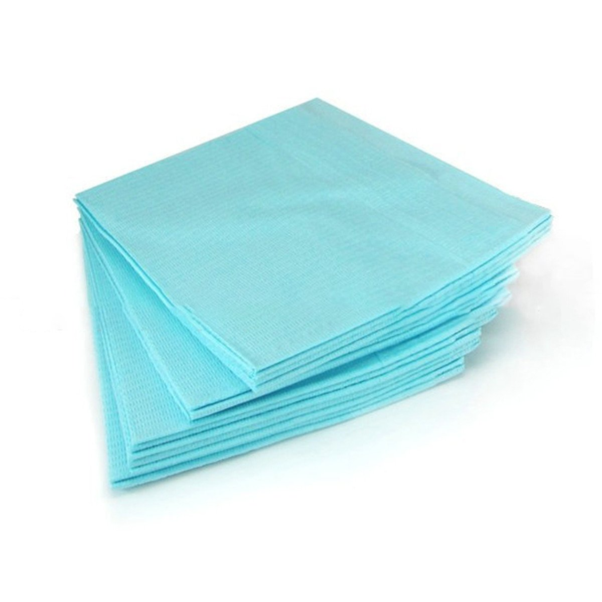 Angelwill Disposable Dental Patient Bib Sheet Medical Clinical Waterproof 3-Ply Sheets Tattoo Cloth Protector 125Pcs