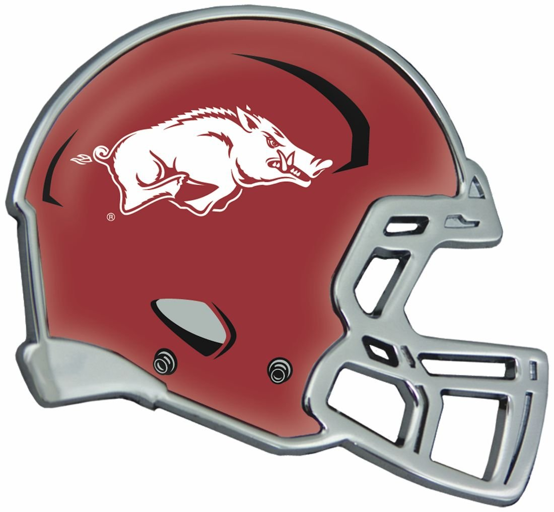 Stock Dale Arkansas Razorbacks Helmet Auto Emblem Heavy Duty Metal