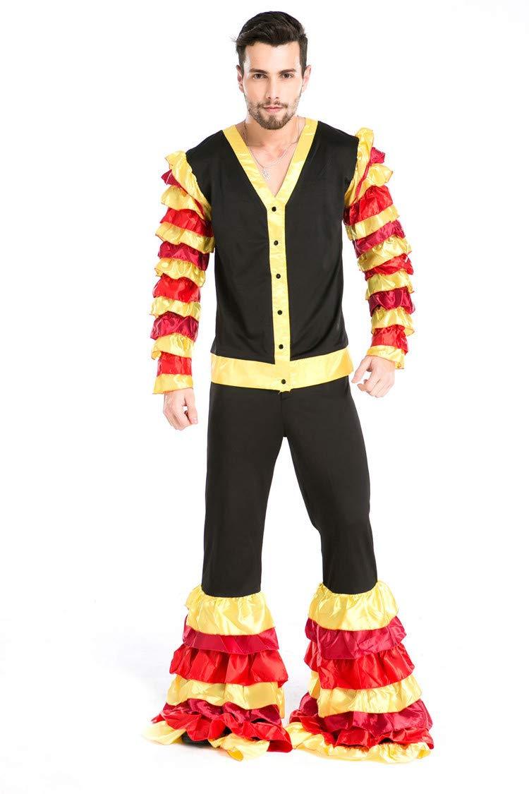 Simmia Halloween Kostüm,Männlicher Erwachsener Leistung DS Zirkus Stierkampf Halloween-Kostüms, 8671, U