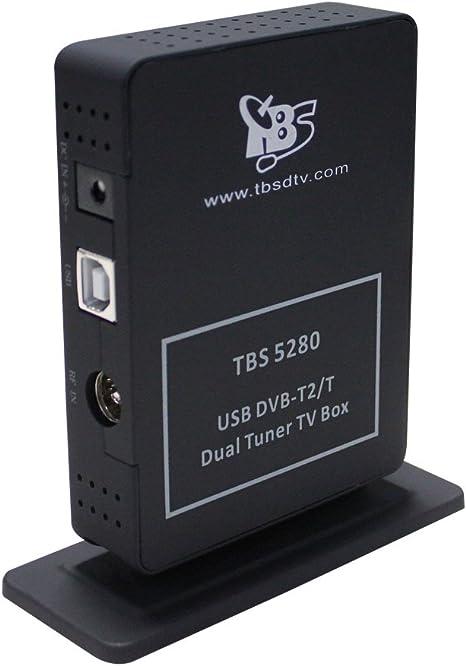TBS5280 DVB-T2/T USB para TV Freeview HD Stick sintonizador de reloj de doble capa
