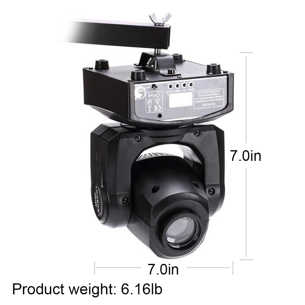 U`King LED Moving Head Light Spot 4 Color Gobos Light 25W DMX with Show KT V Disco DJ Party for Stage Lighting by U`King (Image #2)