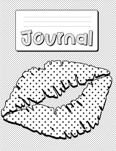 Wear Polka Dots - Lips Composition Notebook Journal Pop Culture Polka Dots 1980's: Journal Paper