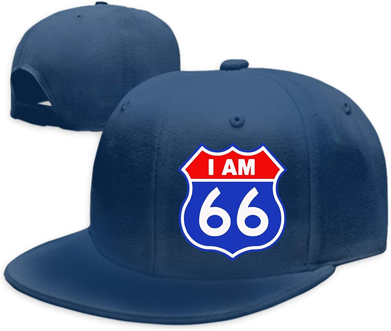 Unisex 66 Geburtstag Washed Cotton Baseball Cap Vintage Adjustable Dad Hat