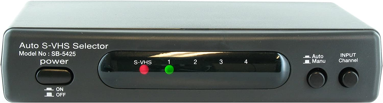 Shinybow SB5425 4x2 S-Video SVHS+Audio Automatic Auto Selector Switcher Splitter