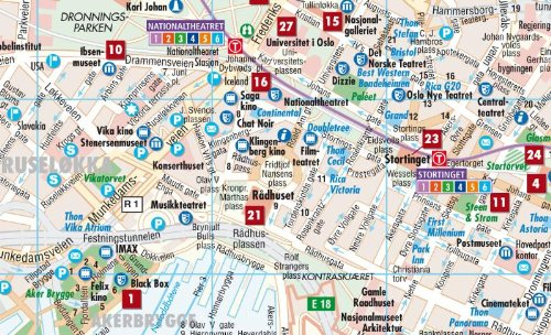 Oslo Borch Map 111 000 English French and German Edition Borch