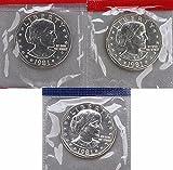 1981 Various Mint Marks P D & S Susan B. Anthony SBA Gem UNC BU Dollars Original Mint Cello Collection Uncirculated