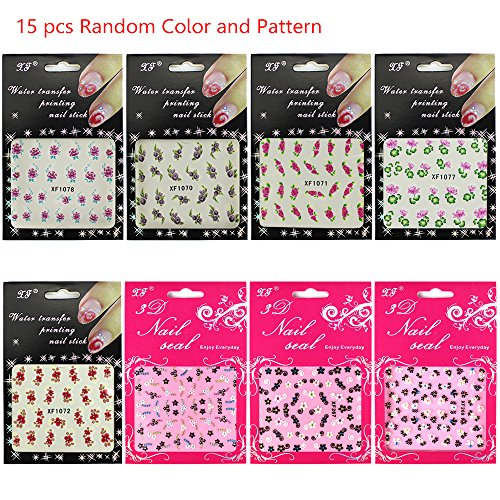 8 Pcs Water Transfer Sheet Nail Art Sticker Decal Beauty Tips Decoration - 3