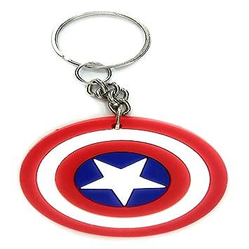 MatrixWeb Captain America Shield Rubber Keychain for Kids Men Women Girls  Boys(Multi)  Amazon.in  Bags 16f6e66538