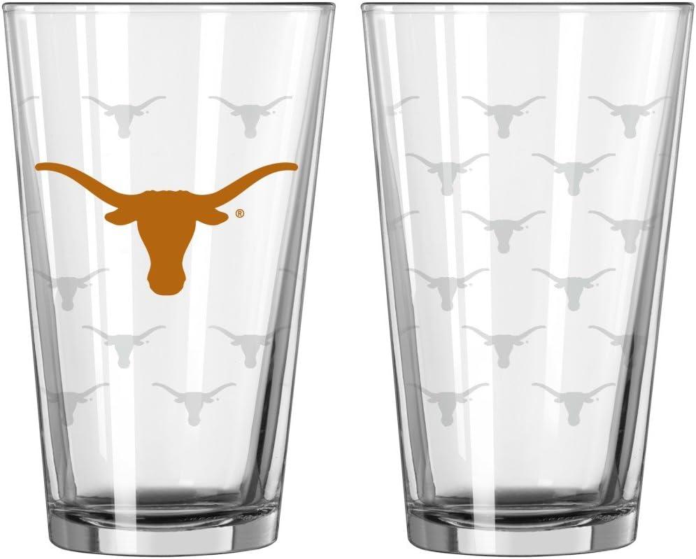 Boelter Brands Texas Longhorns Satin Etch Pint Glass Set