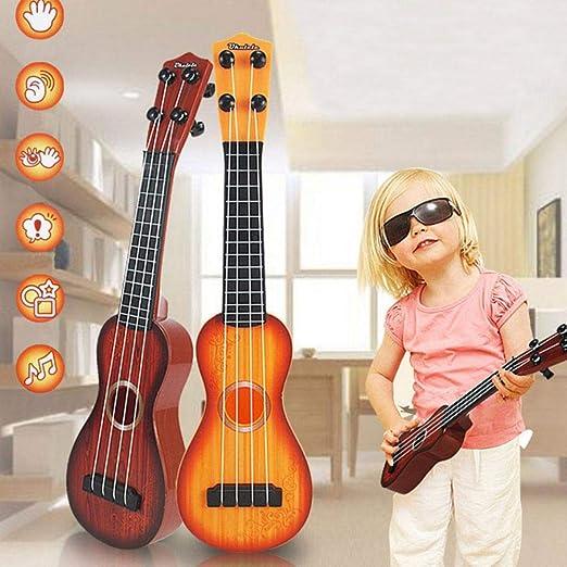 MOGOI Guitarra para niños, Ukelele clásico de simulación Natural ...