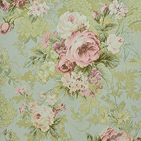 SDKKY Classical American Plain Bedroom Living Room Porch TV Background Wall Paper Wallpaper Big Flower In