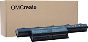 OMCreate AS10D31 AS10D51 Battery Compatible with Acer Gateway NV55C NV59C NV50A NV53 NV53A NE56R41U NE56R31U NV55C03U NV53A24U NV56R - 12 Months Warranty [Li-ion 6-Cell]