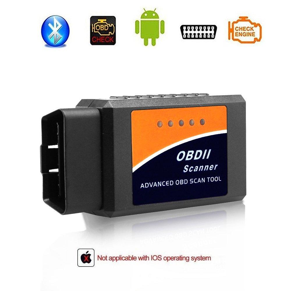 Giveet - Scanner diagnostico OBD 2 Bluetooth per auto, con lettore di codici, per controllare motore e luci; adatto per dispositivi Android e Windows