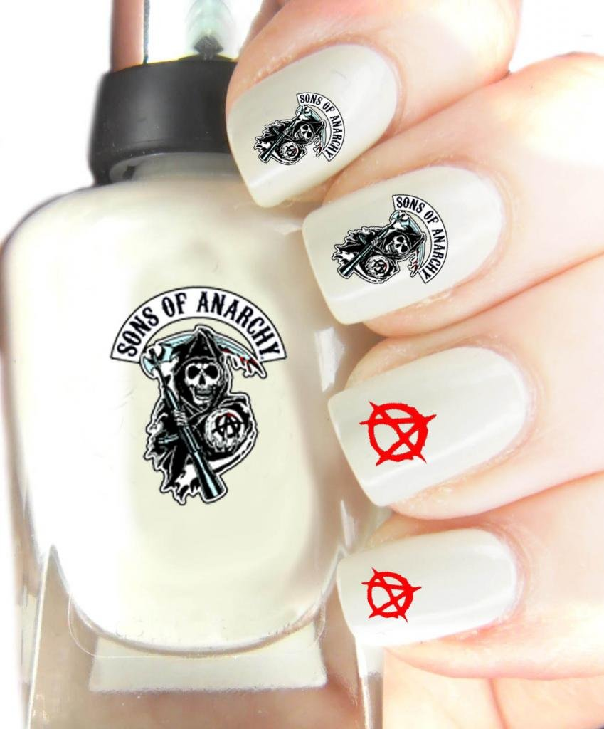 Nail Art Transfers, Sons Of Anarchy, Easy to use Nail art transfers ...
