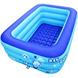 ECOiNVA Inflatable Swimming Pool Hot Tubs Bathtubs Inflated Tubs with Electric Air Pump Inflator Folding Durable Adult…