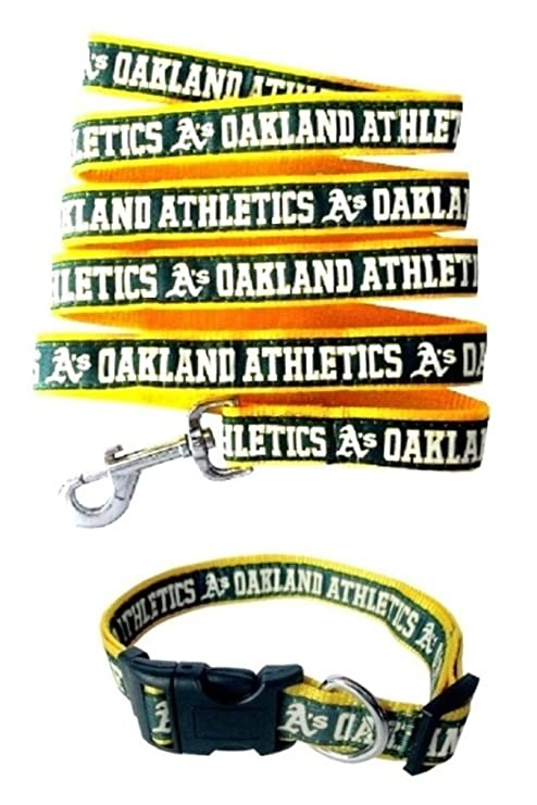 37f22b42cbf Image Unavailable. Image not available for. Color  Oakland Athletics Nylon  Collar and Leash for Pets (MLB ...