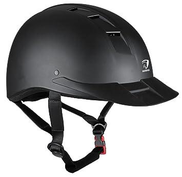 Horka ajustable casco de equitación Safetey 49 – 61 cm, negro, large/extra