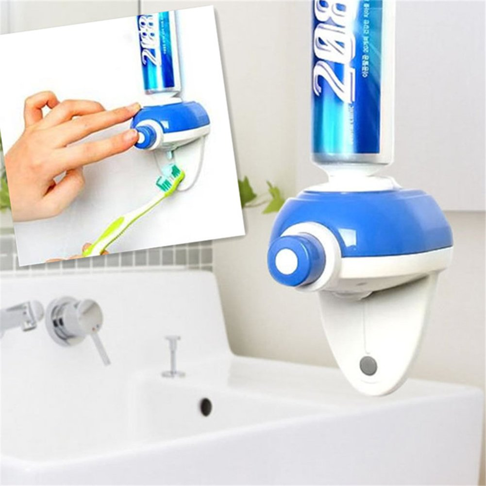 Newest Touch Automatic Toothpaste Dispenser Hands Free Toothpaste Squeezer Bathroom Supplies Secologo