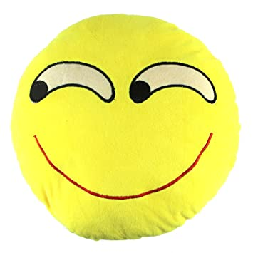 Amazon.com: 32 cm Con Forma De Emoticono Cute Cojín redondo ...