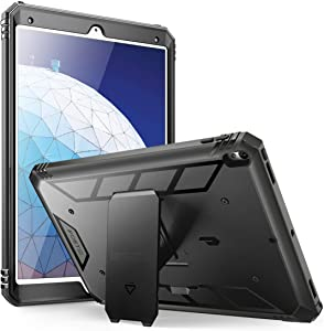 iPad Air 3 (10.5 Inch 2019) Case, iPad Pro 10.5 2017 Case, Poetic Heavy Duty Full Body Rugged Shock Proof Case Cover with Kickstand, Built-in Screen Protector for Apple iPad Air 3rd Generation, Black