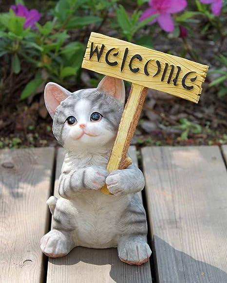 Agirlgle Garden Statue   Cute Cat   Funny Outdoor Sculpture Ornaments Décor    Best Indoor Outdoor