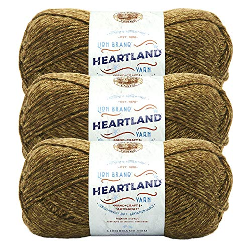 (3 Pack) Lion Brand Yarn 136-174K Heartland Yarn, Joshua Tree