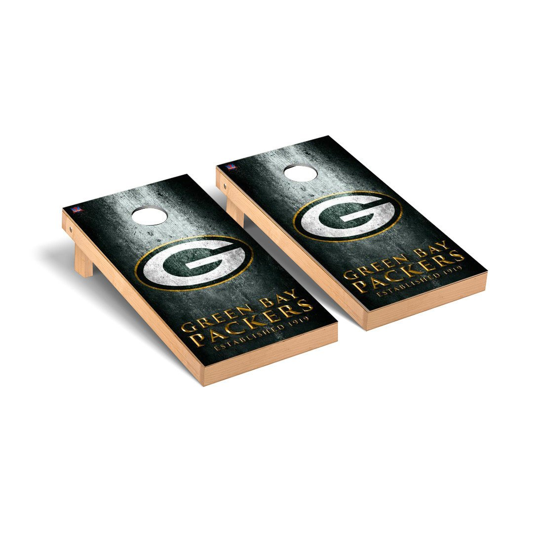 NFL Green Bay Packers Museum Version Football Corn hole Game Set, One Size