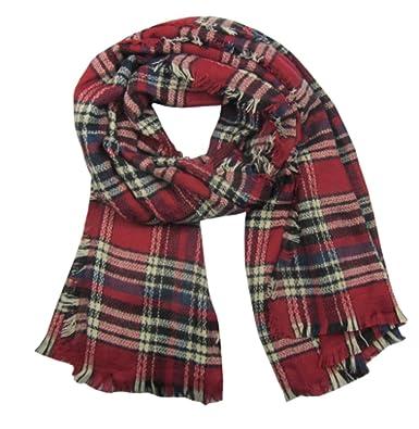 5f66d8dc6 Red Navy Cream Tartan Super Soft Plaids & Checks Blanket Scarf Wrap  Pashmina Shawl Red (Red): Amazon.co.uk: Clothing